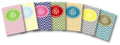 Monogram and Chevron = Teacher Heaven