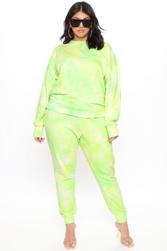 Available In Blue, Pink, And Neon Green. Jogger Tie Front Tie Dye 60% Cotton 40% Polyester Imported Disclaimer:Due To The Specialized Dye Process E... Plus Size Pants, Curvy Women Fashion, Neon Green, Joggers, Tie Dye, Jumpsuit, Unique, Cotton, Pink