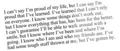 ♡ Proud Of Me, I Cant, I Know, Of My Life, Inspirational, Good Things, Sayings, Learning, Lyrics