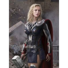 Rule 63 Thor [Picture] ❤ liked on Polyvore featuring home and home decor