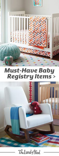 Prepping for baby's arrival is exciting, but overwhelming too. To help make things easier, we've made a list of key items and nursery furniture must-haves that should be on your nursery baby registry.
