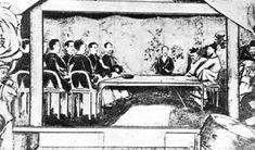 1876년 강화도 조약 체결 모습 좌 일본인, 우 조선인 Japanese, History, Painting, Historia, Japanese Language, Painting Art, Paintings, Painted Canvas, Drawings