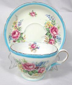 Shelley Blue Floral Teacup!