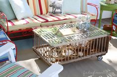 DIY Coffee Table out of a Chicken Crate / Coop - a simple and quick tutorial