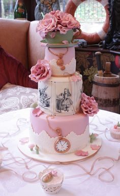 alice in wonderland silhouette wedding cake topper - Google Search