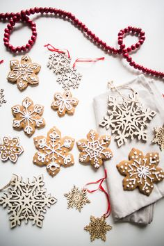 Gingerbread Snowflake Ornaments - Live Free Creative Co