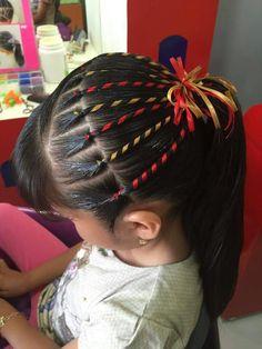 Crazy Hair Day Girls, Girl Hair Dos, Crazy Hair Days, Baby Girl Hair, Teen Hairstyles, Little Girl Hairstyles, Ribbon Hairstyle, Natural Hair Styles, Long Hair Styles