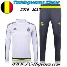 Schönsten Neue Fußball Trainingsanzug Real Madrid Kinder Kits Weiß 2016 2017 Meaney