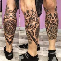 Mandala Tattoo on Calf Mandala Tattoo – Fashion Tattoos Calf Sleeve Tattoo, Calve Tattoo, Calf Tattoo Men, Knee Tattoo, Hand Tattoo, Sleeve Tattoos, Mens Leg Tattoo, Maori Tattoos, Samoan Tattoo