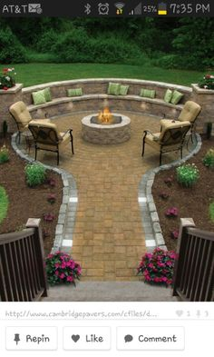 Firepit off stairs