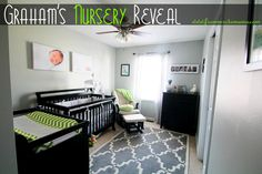Baby boy nursery…green and grey inspiration