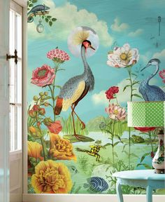 Blomma | Papel de parede romântico | Padrões de papel de parede | Papel de parede dos anos 70
