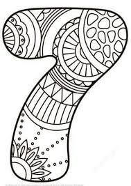 Image Result For Doodle Art On Numbers Sunflower Coloring Pages Coloring Pages Zentangle