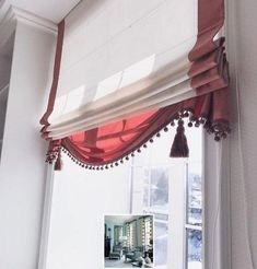One of the first things you do when you remodel or move into a new home is change the curtains. After all, new window treatments easily, quickly, and inexpensively transform a room. - Check Out THE PIC for Various Ideas for Bedroom Window Treatments. Roman Curtains, Curtains Living, Kitchen Curtains, Window Curtains, Valance, Large Curtains, Drapery, Unique Window Treatments, Custom Drapes