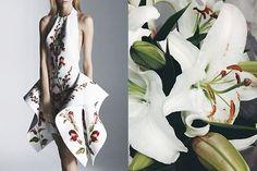 Natalia Grzybowski Hybrid Collection Spring 2012 | White lilies