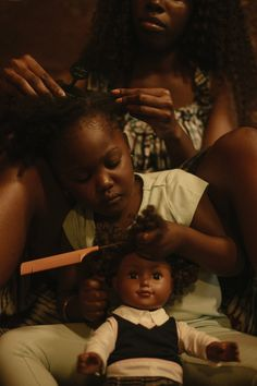 """""""The hair appointment Directed/produced by Josef Adamu Photographed by Jeremy Rodney-Hall"""" Beautiful Black Girl, Black Girl Art, Black Art, Black Girl Magic, Black Girls, Black Aesthetic Wallpaper, Black Girl Aesthetic, Brown Aesthetic, Photo Trop Belle"""