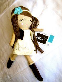Custom Classic Cloth Doll by Mend Hippy Girl