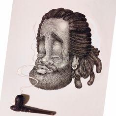 My new art. Rastaman. Jah loves you, bro :) In process.