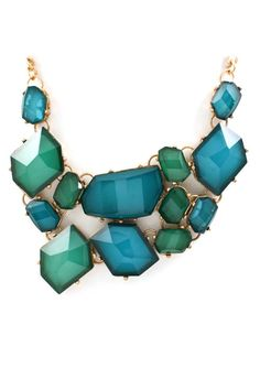 Teal Josephine Statement Necklace