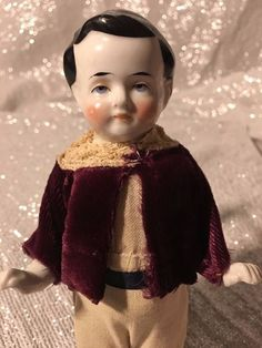 "7"" Antique Frozen Charlie Doll Germany Kestner"