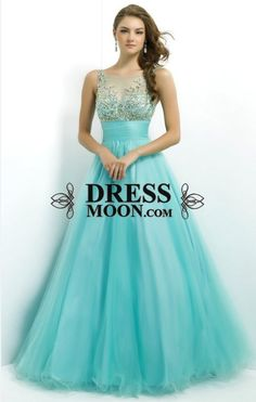 I like this - Ball Gown Scoop Tulle with Beading Blue Prom Dress. Do you think I should buy it?