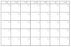 Printables For The Dry Erase Calendar