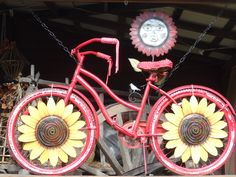 Sunflower bicycle @ Pappy's  - Blairsville, GA
