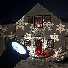 £5.08 (83% Off) on LootHoot.com - GESIMEI LED Flood Lights Indoor/Outdoor Moving White Snowflake Landscape Projector Lamp Christmas Tree Garden Patio Stage House Decoration