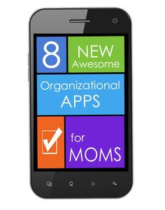 Managing your family's schedule, finances, schoolwork, and home life can be a little easier thanks to a bevy of new smartphone apps. Here are 8 for you, moms! #organizationalapps #appsformoms