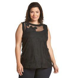 Ruff Hewn GREY Plus Size Sleeveless Lace Sweater