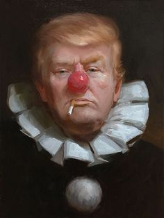 Political art and the 2016 presidential election: caricatures, magazine covers, street art, political cartoons and more of Hillary Clinton and Donald Trump. Es Der Clown, Creepy Clown, Joker Clown, Scary, Political Art, Political Comics, Political Quotes, Political Events, Celebrity Caricatures