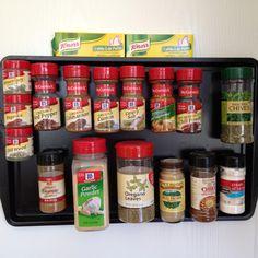 DIY magnetic spice rack--