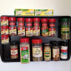 DIY magnetic spice rack--