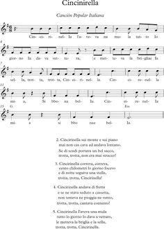 Cincinirella. Canción Tradicional Italiana.