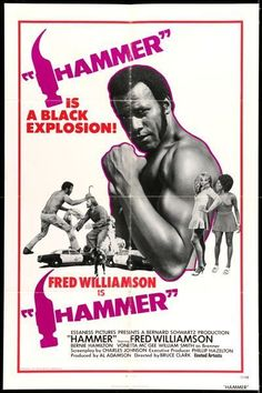 HAMMER - 1972 - original 27x41 movie poster - FRED WILLIAMSON - BLAXPLOITATION