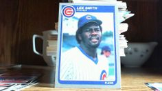 FLEER 1985 LEE SMITH CARD# 67 CUBS (FREE REFLECTIVE STICKER),