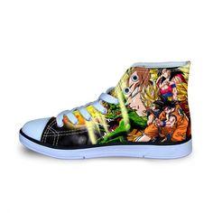super popular ede9d 33e3e Dragon Ball Z Resurrection High Top Shoes