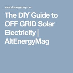Wire sizing calculator for solar panel arrays places to visit the diy guide to off grid solar electricity altenergymag greentooth Gallery