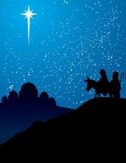bethlehem nativity silhouette vector art illustration