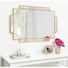 Shop Kate and Laurel Minuette Decorative Rectangle Wall Mirror - On Sale - Overstock - 24147614 - Square - Gold - Gold - Bronze Gold, Gold Gold, Ornate Mirror, Gold Wall Mirror, Gold Mirrors, Gold Wall Decor, Decorative Mirrors, Mirror Wall Decorations, Wall Mirror Design