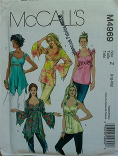 Top Set with Boho Style McCall's Pattern 4969  by patterntreasury, $15.95