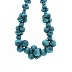 Your place to buy and sell all things handmade Beaded Statement Necklace, Cluster Necklace, Beaded Jewelry, Jewellery, Wooden Bead Necklaces, Wooden Beads, Turquoise Bracelet, Bubbles, Bead Jewelry
