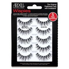 Ardell Lash Lash Wispies Multipack comes with 5 pairs of lashes with an invisible and lightweight band! Lashes that every lashionista should know about! Wispy Lashes, Fake Lashes, False Eyelashes, Grow Eyelashes, Applying False Lashes, Applying Eye Makeup, Gloss Kylie Jenner, Sephora, Ardell Eyelashes