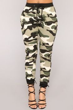 f1836efdb0c Commander In Chief Camo Joggers - Olive