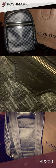 Auth Louis Vuitton Damier Michael backpack large Auth Louis Vuitton Michael leather backpack large great condition and clean AR0173 with original Dustbag Louis Vuitton Bags Backpacks