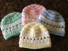 Pattern for preemie hats (good idea for NICU donations)