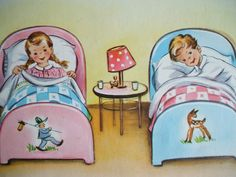 Sweet vintage dreams. #cute #vintage #illustrations