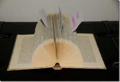 Old book becomes a cool memoholder Old Books, Hand Fan, Incense, Mittens, How To Become, Stationery, Home Appliances, Cool Stuff, Fun