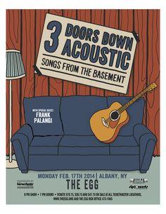 Frank Palangi opening for #3doorsdown 2014 - #poster #songsfromthebasement #tour #acousticshow