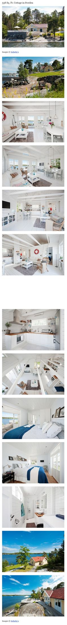 538 Sq. Ft. Cottage in Sweden via —tinyhousetalk.com/538-sq-ft-cottage-in-sweden
